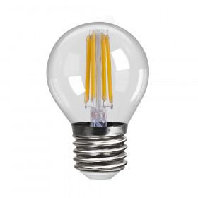 Светодиодная лампа шар Voltega 220V E27 6W (соответствует 60 Вт) 600Lm 4000K (белый) 7024