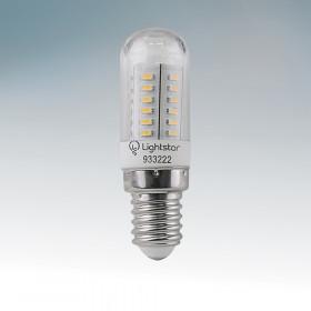 Светодиодная лампа Lightstar 220V E14 3.2W (соответствует 30 Вт) 3000K (теплый белый) 933222