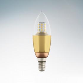 Светодиодная лампа Lightstar 220V C35 E14 7W=70W 60G CL/GD 3000K (теплый белый) 940522