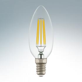 Светодиодная лампа Lightstar 220V C35 E14 4W (соответствует 40 Вт) 360G CL 2800K (теплый белый) 940562