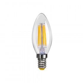 Светодиодная лампа свеча Voltega 220V E14 6W (соответствует 60 Вт) 580Lm 2800K (теплый белый) 7019