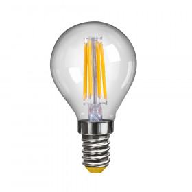 Светодиодная лампа шар Voltega 220V E14 6W (соответствует 60 Вт) 580Lm 2800K (теплый белый) 7021