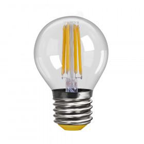 Светодиодная лампа шар Voltega 220V E27 6W (соответствует 60 Вт) 580Lm 2800K (теплый белый) 7023