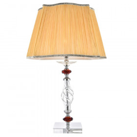 Лампа настольная Crystal Lux CATARINA LG1 GOLD/TRANSPARENT-COGNAC
