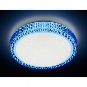 Светильник потолочный Ambrella Orbital Crystal F85 BL 48W D400