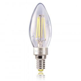 Светодиодная лампа свеча Voltega 220V E14 4W (соответствует 40 Вт) 390Lm 2800K (теплый белый) 5709