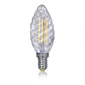 Светодиодная лампа витая свеча Voltega 220V E14 4W (соответствует 40 Вт) 390Lm 2800K (теплый белый) 5711