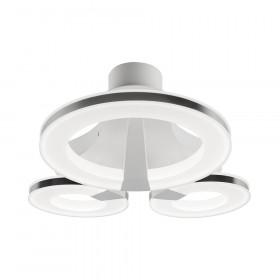 Светильник потолочный IDLamp Jenevra 397/3PF-LEDWhitechrome