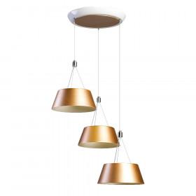 Люстра RiForma Wood 2-5015-3-WH+GL LED