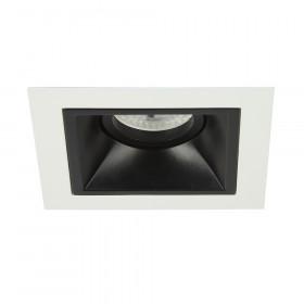 Светильник точечный Lightstar Domino Quadro MR16 Черный с белым одна лампа
