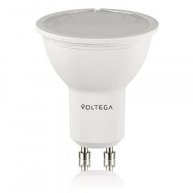 Светодиодная лампа софит Voltega 220V GU10 6W (соответствует 60 Вт) 420Lm 2800K (теплый белый) 6948