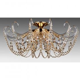 Светильник потолочный Crystal Lux IMPERIA PL6 GOLD/AMBER