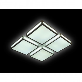 Светильник потолочный Ambrella Orbital Crystal Sand FS1888 WH/SD 144W 4200K D520*520