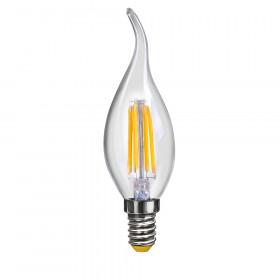 Светодиодная лампа свеча на ветру Voltega 220V E14 6W (соответствует 60 Вт) 580Lm 2800K (теплый белый) 7017