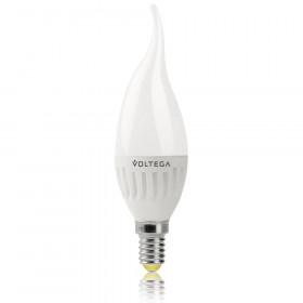 Светодиодная лампа свеча на ветру Voltega 220V E14 6.5W (соответствует 60 Вт) 600Lm 2800K (теплый белый) 5719