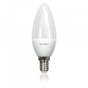 Светодиодная лампа свеча Voltega 220V E14 5.7W (соответствует 60 Вт) 480Lm 4000K (белый) 5728