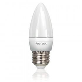 Светодиодная лампа свеча Voltega 220V E27 5.7W (соответствует 60 Вт) 480Lm 4000K (белый) 5730