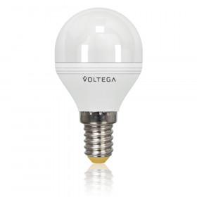 Светодиодная лампа шар Voltega 220V E14 5.7W (соответствует 60 Вт) 470Lm 2800K (теплый белый) 4702