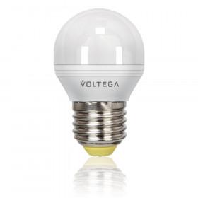 Светодиодная лампа шар Voltega 220V E27 5.7W (соответствует 60 Вт) 470Lm 2800K (теплый белый) 4704