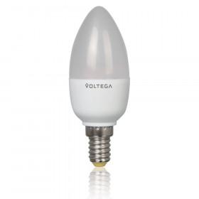 Светодиодная лампа свеча Voltega 220V E14 5.4W (соответствует 60 Вт) 450Lm 2800K (теплый белый) 5741