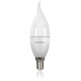 Светодиодная лампа свеча на ветру Voltega 220V E14 5.7W (соответствует 60 Вт) 480Lm 4000K (белый) 8340