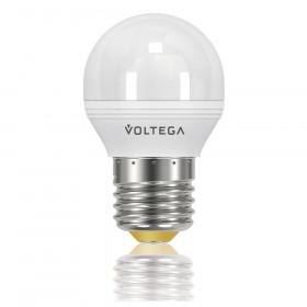Светодиодная лампа шар Voltega 220V E27 5.7W (соответствует 60 Вт) 470Lm 2800K (теплый белый) 8342