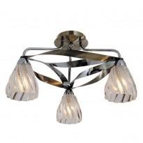 Светильник потолочный N-Light 405-03-53CAB Chrome + Antique Brass