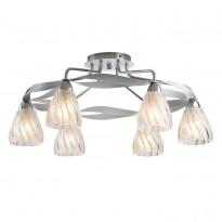 Светильник потолочный N-Light 405-06-13CWC Chrome + White Crack