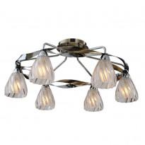 Светильник потолочный N-Light 405-06-53CAB Chrome + Antique Brass