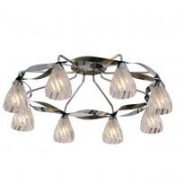 Светильник потолочный N-Light 405-08-53CAB Chrome + Antique Brass
