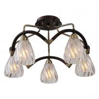 Светильник потолочный N-Light 407-05-53ABW Antique Brass + Walnut