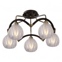 Светильник потолочный N-Light 407-05-53ABWBB Antique Brass + Walnut