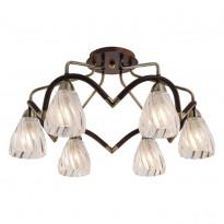 Светильник потолочный N-Light 407-06-53ABW Antique Brass + Walnut