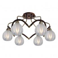 Светильник потолочный N-Light 407-06-53ABWBB Antique Brass + Walnut