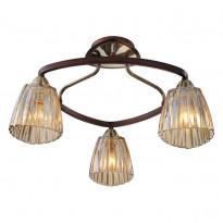 Светильник потолочный N-Light 408-03-53 Antique Brass + Walnut