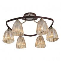 Светильник потолочный N-Light 408-06-53 Antique Brass + Walnut