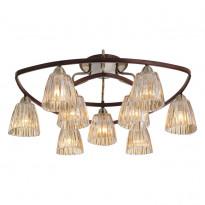 Светильник потолочный N-Light 408-09-53 Antique Brass + Walnut