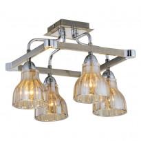 Светильник потолочный N-Light 411-04-53CAB Chrome + Antique Brass