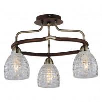 Светильник потолочный N-Light 412-03-53ABW Antique Brass + Walnut