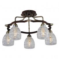 Светильник потолочный N-Light 412-05-53ABW Antique Brass + Walnut