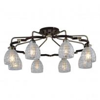 Светильник потолочный N-Light 412-08-53ABW Antique Brass + Walnut