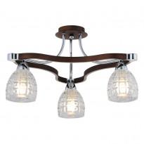 Светильник потолочный N-Light 415-03-13 Chrome + Walnut