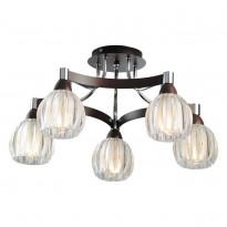 Светильник потолочный N-Light 418-05-13WBB Chrome + Wengue