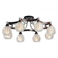 Светильник потолочный N-Light 418-08-13WBB Chrome + Wengue