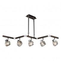 Светильник потолочный N-Light 420-05-17 Chrome + Wengue