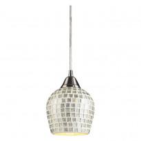 Светильник (Люстра) N-Light 528-1SLV Satin Nickel / Silver Mosaic