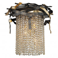 Светильник потолочный N-Light 555-03-03 Gold + Black + Shampagne Crystal