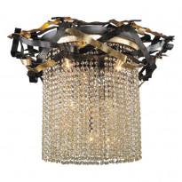 Светильник потолочный N-Light 555-06-03 Gold + Black + Shampagne Crystal