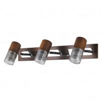 Спот N-Light 6203B/3E14 Chrome + Brown Wood