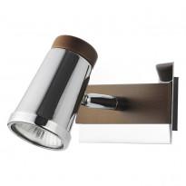 Спот N-Light 6205A/1GU10 Chrome + Brown Wood